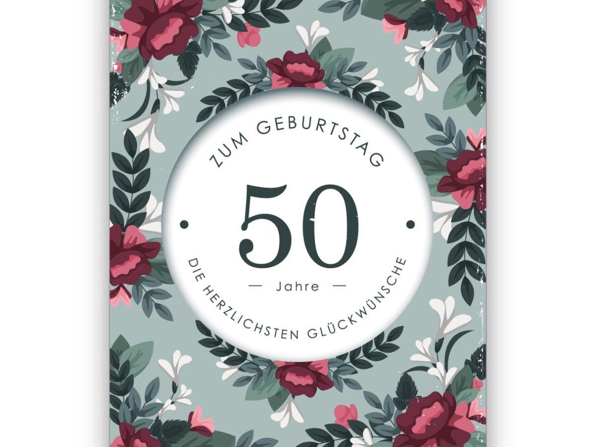 50 Geburtstagskarten Blumen Grußkarten Glückwunschkarten Geburtstag 511-0976 A