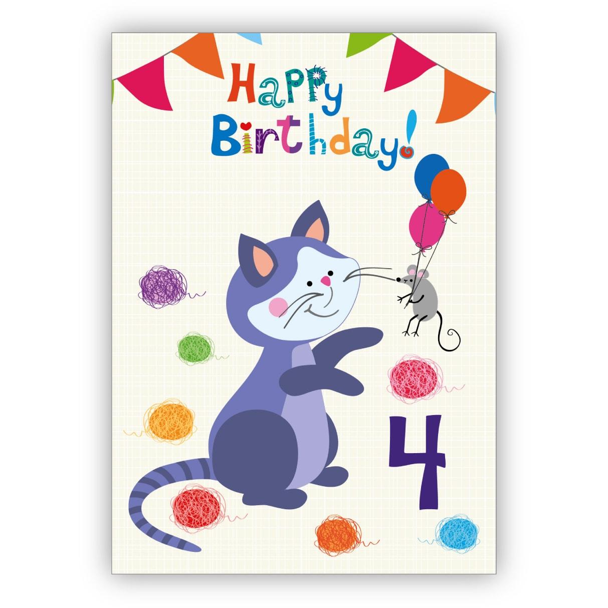 Alles Gute Zum Geburtstag Lustige Und Niedliche Raumgrusskarte
