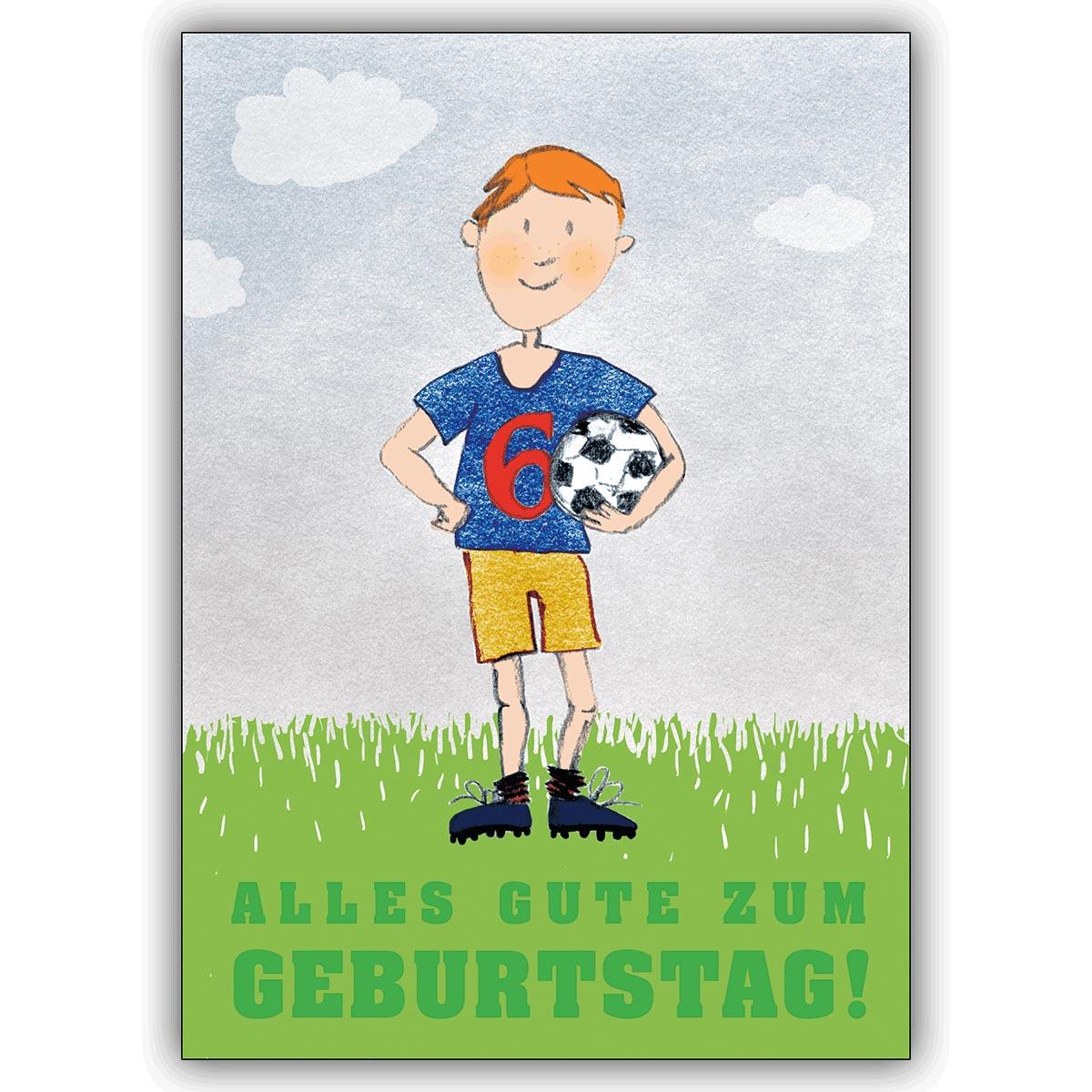 Tolle Grusskarte zum 3. Geburtstag mit frechem Fußballer: Alles Gute zum  Geburtstag!