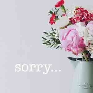 Klappkarten um sorry zu sagen